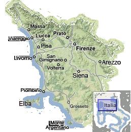 Toskana mapa
