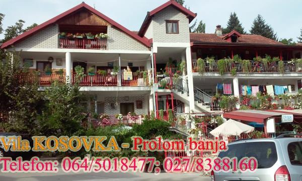 Vila Kosovka Prolom banja Srbija