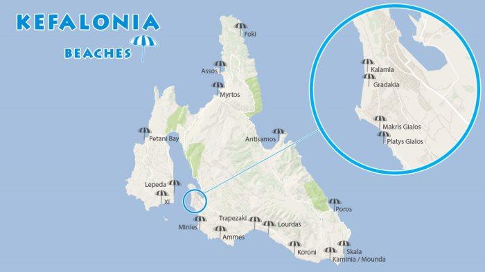 kefalonija mapa grcke 17 najlepših plaža Kefalonije (vodič, mapa, slike) – Odmor Plus kefalonija mapa grcke